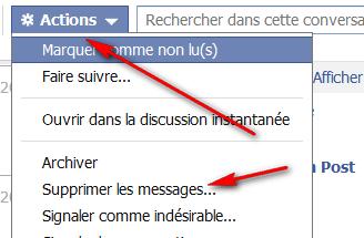 sup messages Supprimer les messages Facebook envoyés à une personne