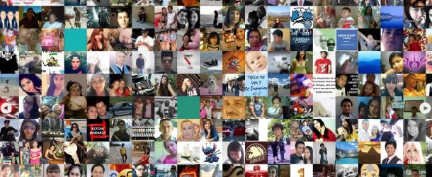 Il a créé un site qui rassemble tous les profils de Facebook au même endroit! Plus de 1 200 000 000 faces!