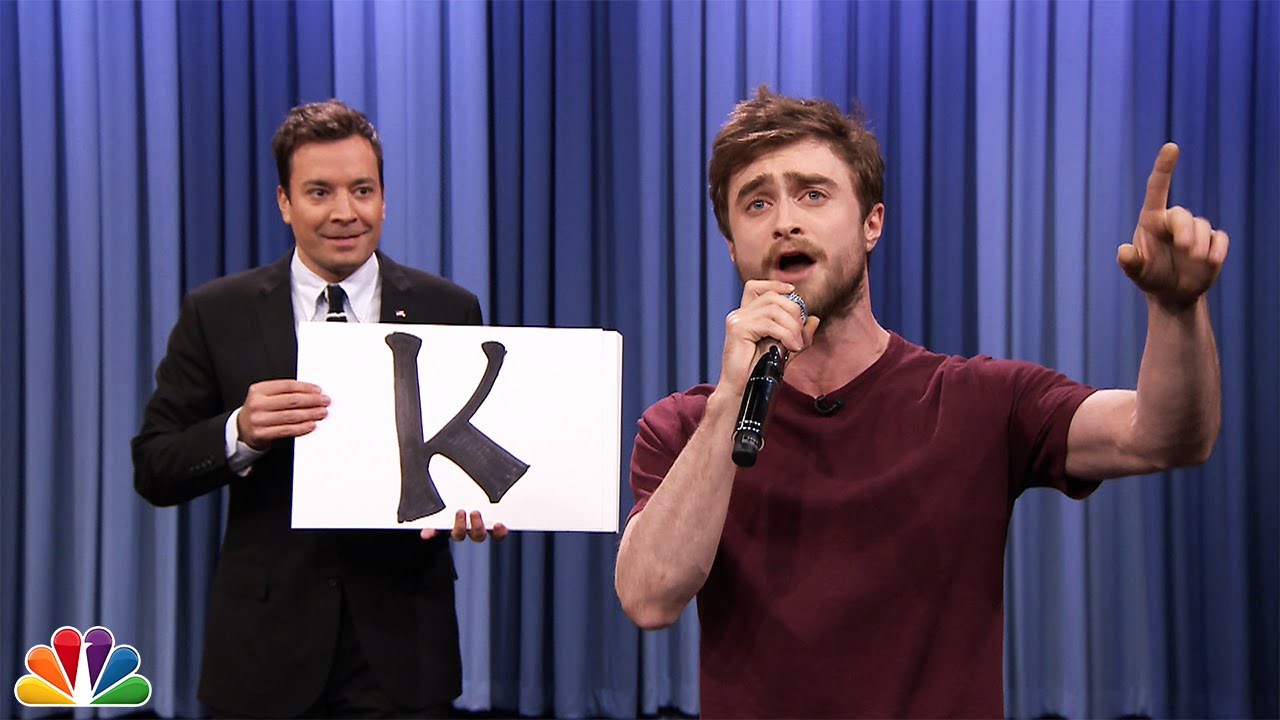 Daniel Radcliffe (Harry Potter) impressionnant rap par ordre alphabétique!