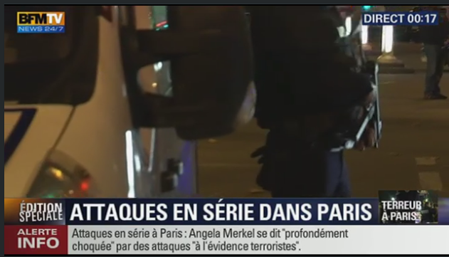 Suivre en direct, fusillade, attentat en France 13 novembre 2015