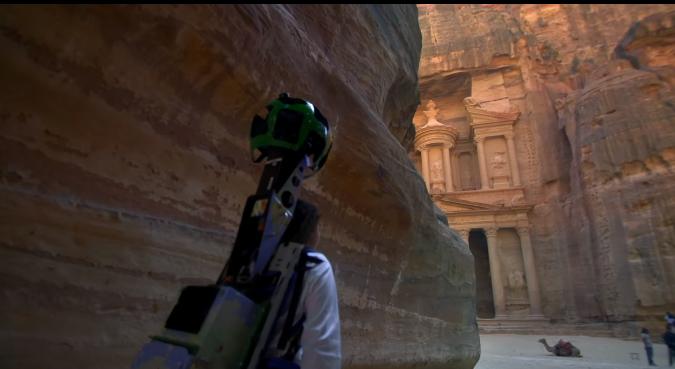 Découvrir Pétra, une cité antique en Jordanie avec StreetView!