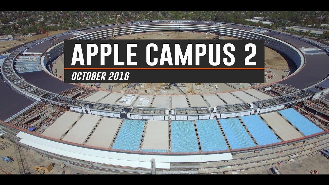 L'avancement des travaux du campus Apple capté par un drone!
