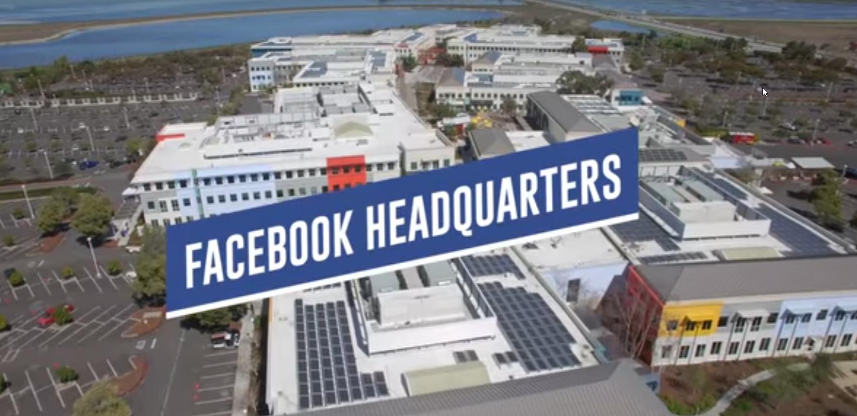 Bureaux de Facebook à partir d'un Drone!