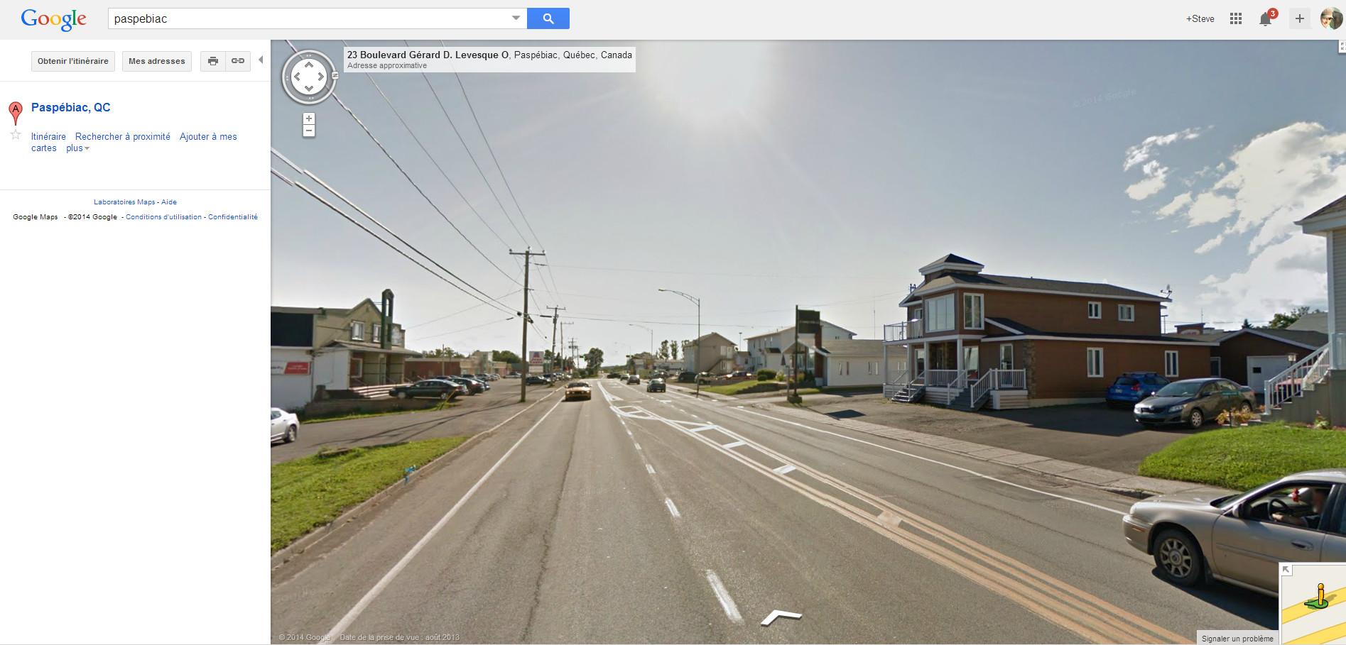 Google Street View est en fonction en Gaspésie, Baie-des-chaleurs!