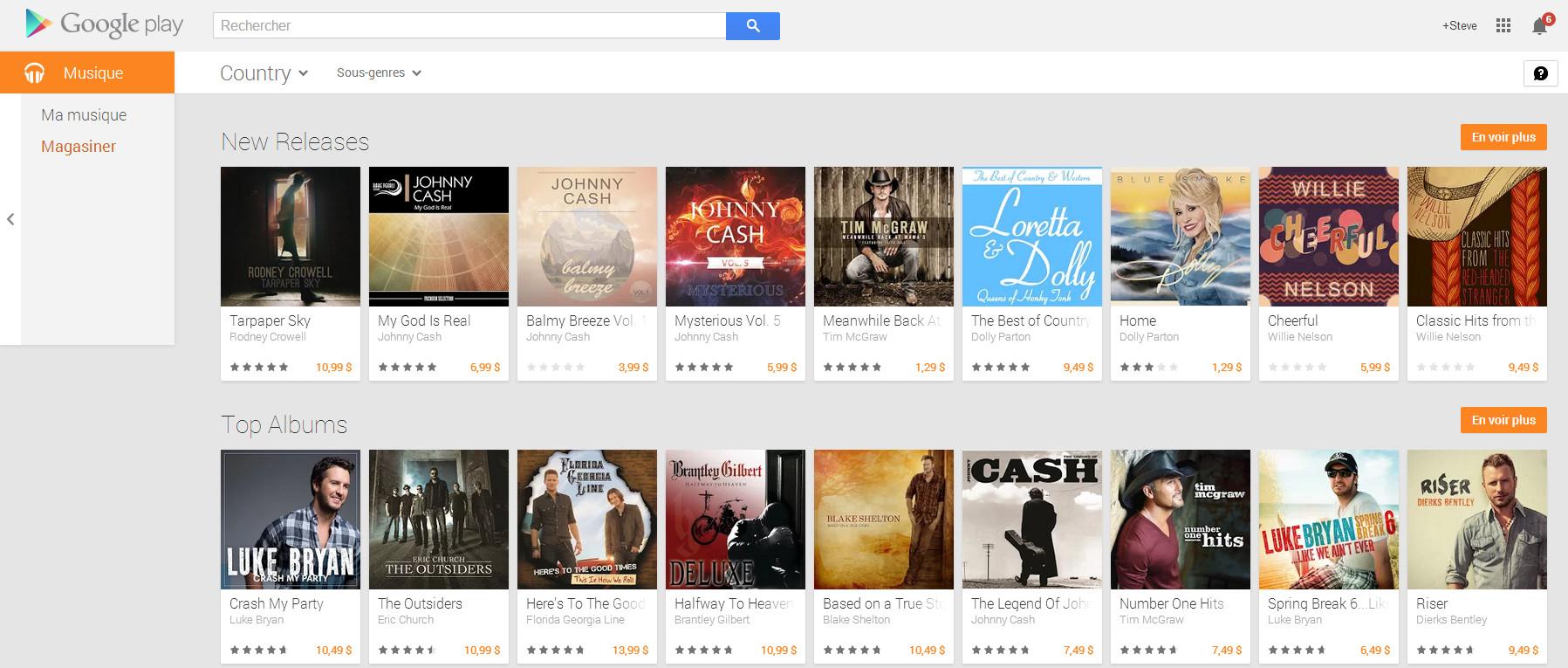 Google play musique est disponible au Canada