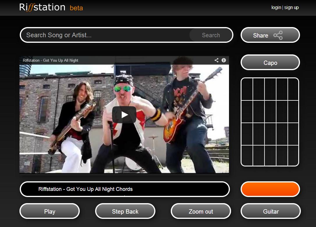 Application pour apprendre les accords de guitare des vidéos YouTube!