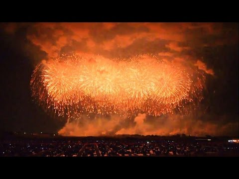 Le plus gros feu d'artifice au monde! Japon en octobre 2014!
