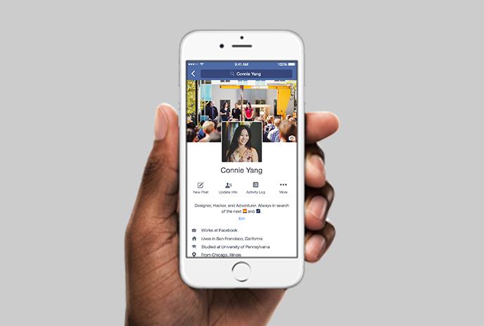 Nouveau pour les profils Facebook