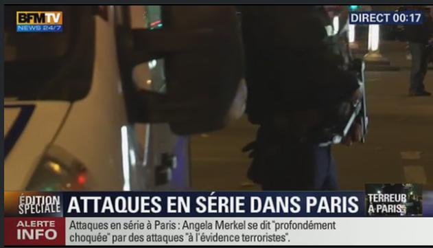 Suivre en direct, fusillade, attentat en France 13 novembre 2015