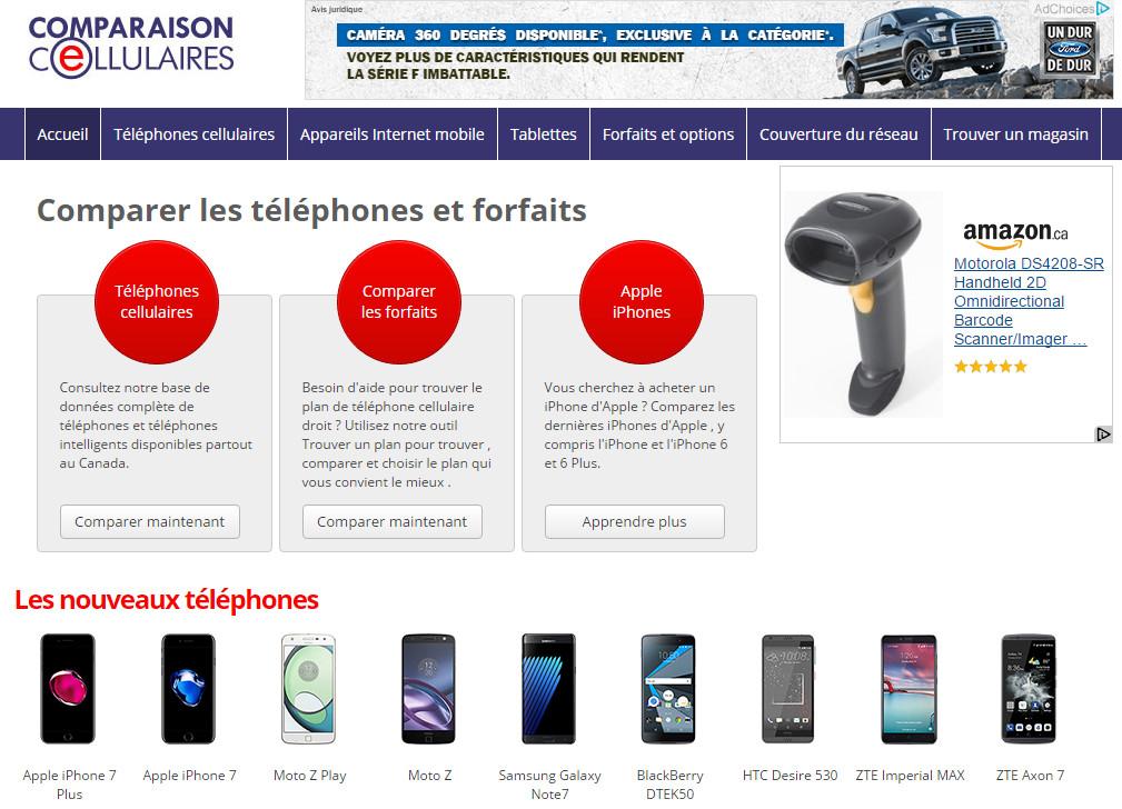 Comparez les forfaits de cellulaires au Québec
