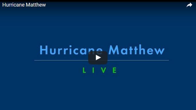 L'ouragan Matthew en direct à plusieurs endroits